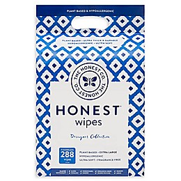 Honest 228-Count Wipes in Blue Ikat