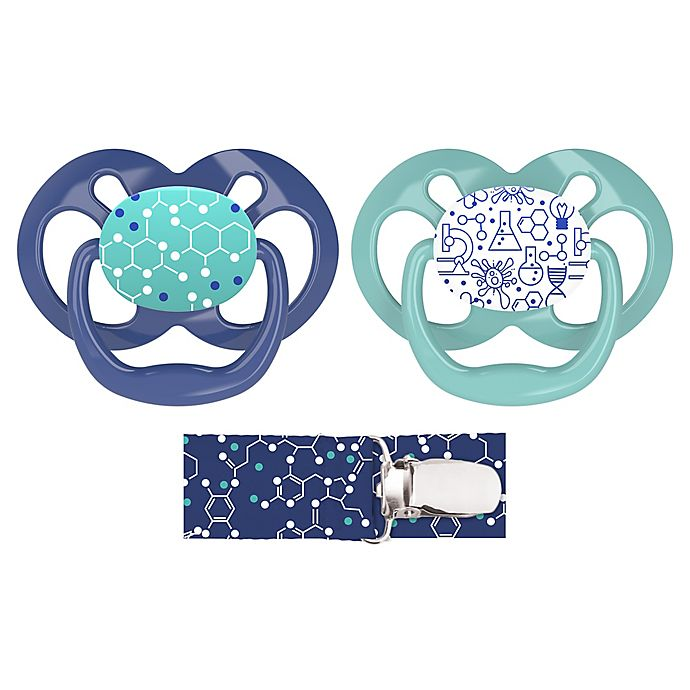 Alternate image 1 for Dr. Brown's® Advantage 2-Pack Stage 2 Pacifiers with Clip
