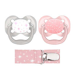 Dr. Brown's® Advantage 2-Pack Stage 1 Pacifiers with Clip