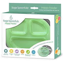 Sage Spoonfuls® Happy Foodie Stainless Steel Plate