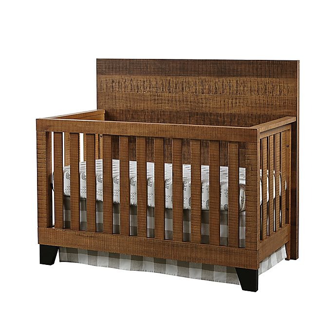 Alternate image 1 for Westwood Design Urban Rustic 4-in-1 Convertible Crib in Wheat