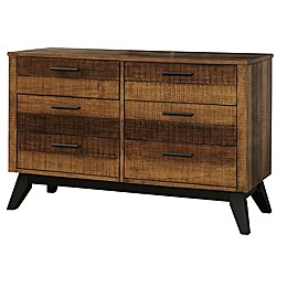 Westwood Design Urban Rustic 6-Drawer Double Dresser in Wheat