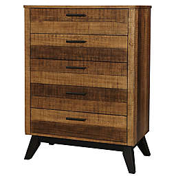 Westwood Design Urban Rustic 5-Drawer Chest in Wheat