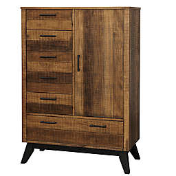 Westwood Design Urban Rustic 5-Drawer Chifferobe in Wheat