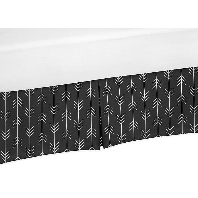 Alternate image 1 for Sweet Jojo Designs® Rustic Patch Arrow Crib Skirt in Black/White