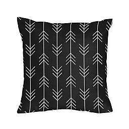 Sweet Jojo Designs® Patch Arrow Square Throw Pillows in Black/White (Set of 2)