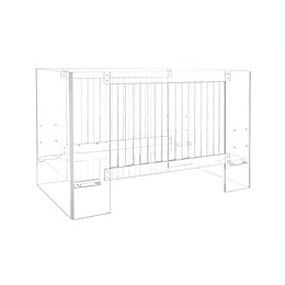 Nursery Works Vetro Acrylic Crib in Clear