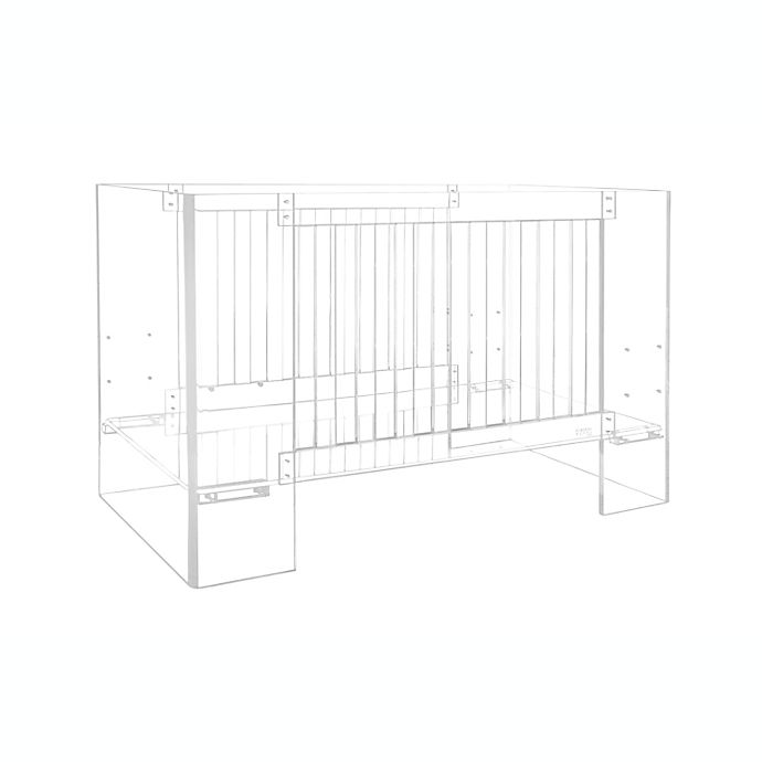 Alternate image 1 for Nursery Works Vetro Acrylic Crib in Clear