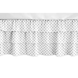 Sweet Jojo Designs® Polka Dot Crib Skirt in Grey/White