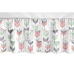 Sweet Jojo Designs Mod Arrow Crib Skirt in Mint/Coral
