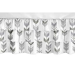 Sweet Jojo Designs® Mod Arrow Crib Skirt in Grey/White