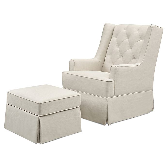 Alternate image 1 for Million Dollar Baby Classic Sadie Swivel Glider with Storage Ottoman