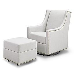 Million Dollar Baby Classic Harper Swivel Glider with Ottoman