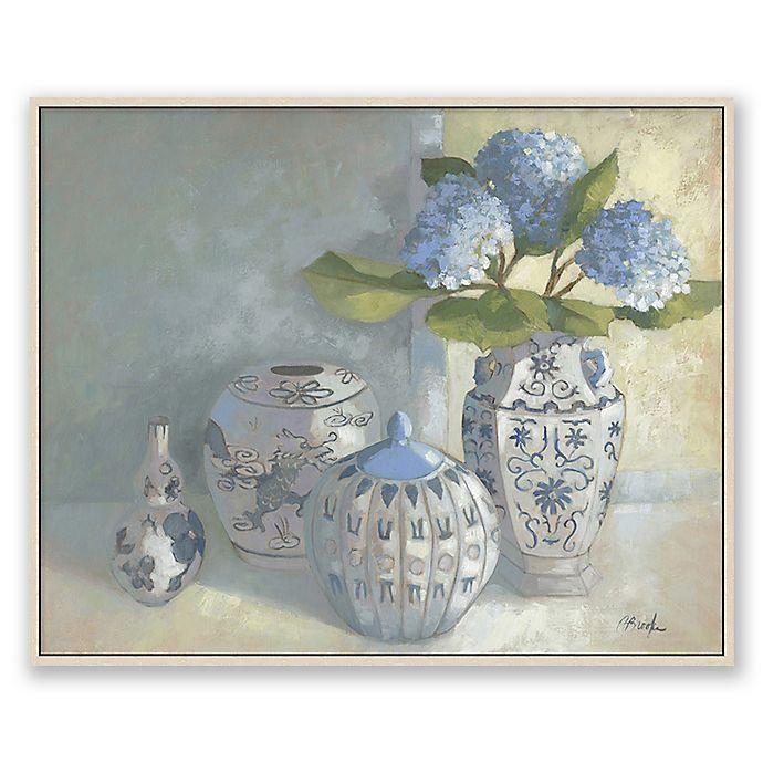 Alternate image 1 for Blue & White Vases 27.75-Inch 33.7-Inch Framed Canvas Wall Art