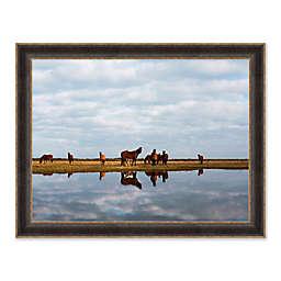 Wild Horses II 27.75-Inch x 33.75-Inch Framed Print Wall Art