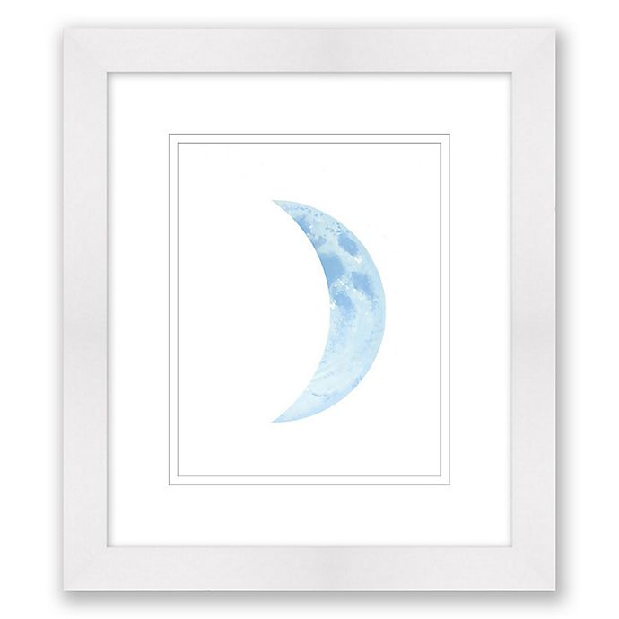Alternate image 1 for Blue Cresent Moon 14-Inch x 16-Inch Framed Wall Art