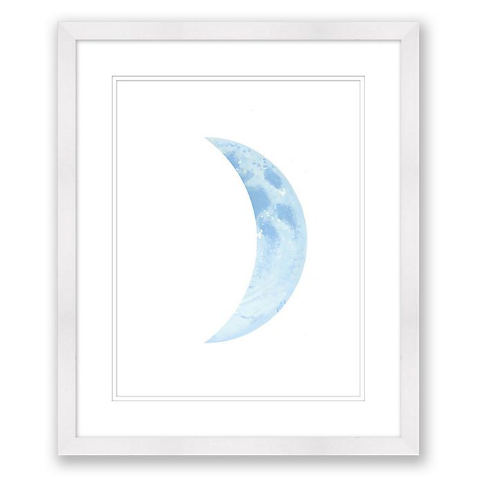 Alternate image 1 for Blue Cresent Moon 20-Inch x 24-Inch Framed Wall Art