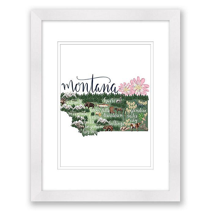 Alternate image 1 for Montana 15-Inch x 18-Inch Framed Print Wall Art in White