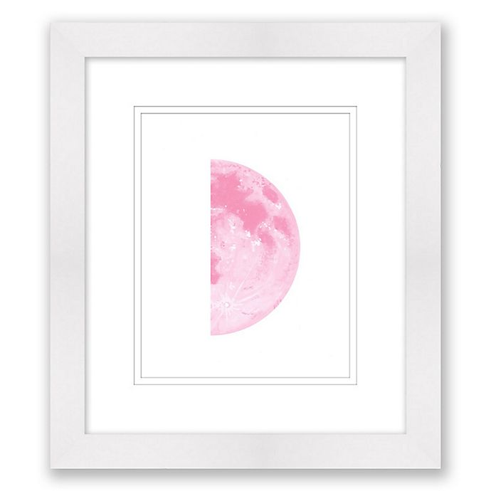 Alternate image 1 for Half Moon I 14-Inch x 16-Inch Framed Print Wall Art in Pink