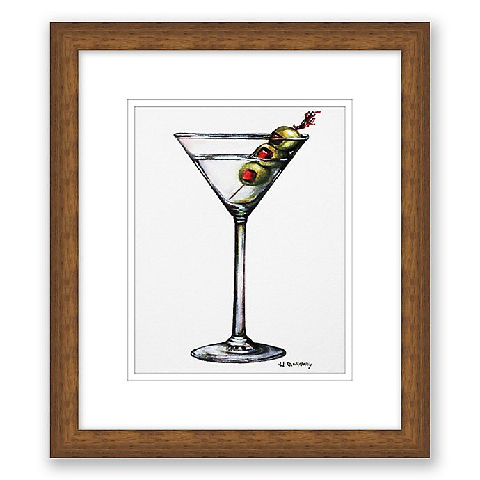 Alternate image 1 for Martini Drink 13.5-Inch x 15.5-Inch Framed Wall Art