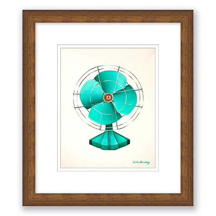 Alternate image 1 for Emerald Fan 13.5-Inch x 15.5-Inch Framed Wall Art