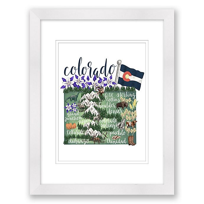 Alternate image 1 for Colorado 15-Inch x 18-Inch Framed Print Wall Art in White
