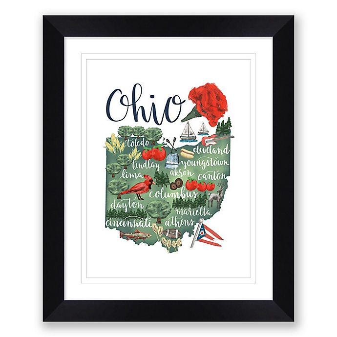Alternate image 1 for Ohio 22.5-Inch x 27.5-Inch Framed Print Wall Art in Black