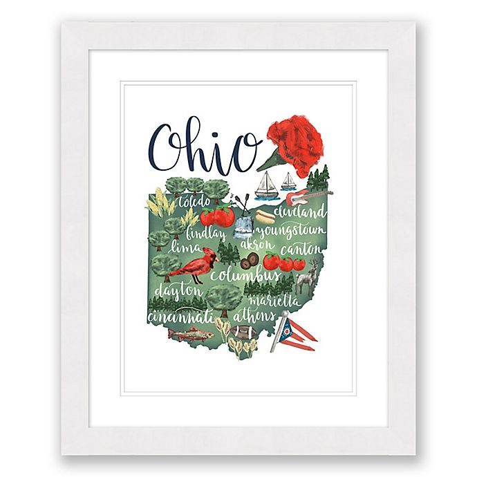 Alternate image 1 for Ohio 22.5-Inch x 27.5-Inch Framed Print Wall Art in Black