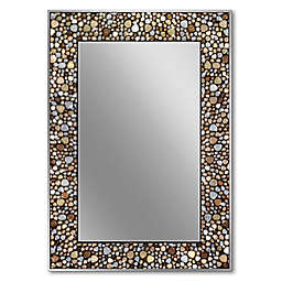 Head West Pebble Mosaic 22-Inch x 32-Inch Rectangle Wall Mirror