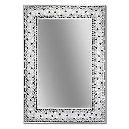 Head West Checkers Mosaic Rectangular Mirror