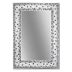 Head West Checkers Mosaic Rectangular Mirror