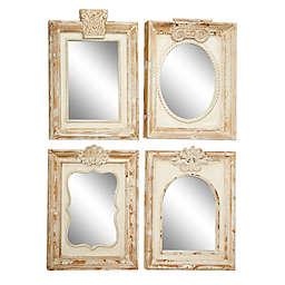 Uma Wood Framed 18-Inch x 25-Inch Rectangular Wall Mirrors (Set of 4)