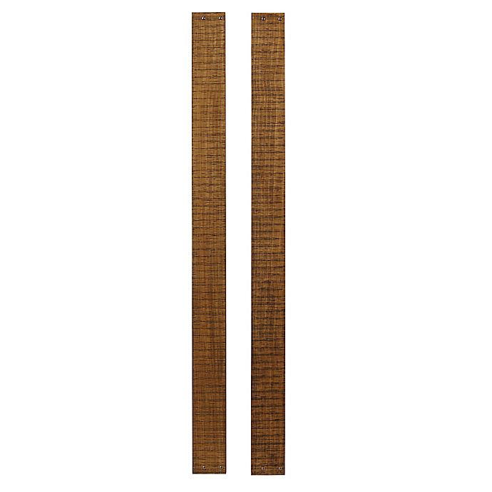 Alternate image 1 for Westwood Design Urban Rustic Full-Size Bed Rails in Wheat (Set of 2)