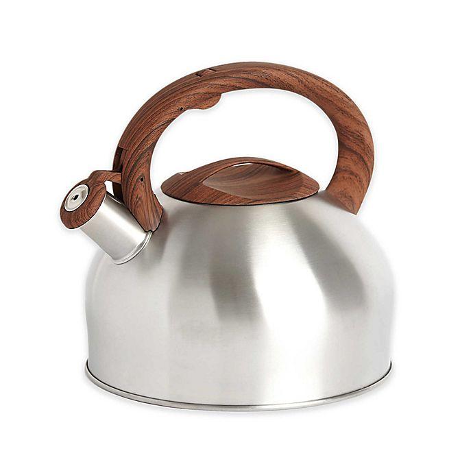 Alternate image 1 for Sharper Image® 3.2 qt. Tea Kettle with Wood Soft Spray Handle