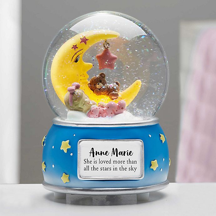 Alternate image 1 for Baby Girl Personalized Musical & Light Up Snow Globe