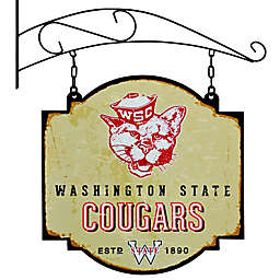 Washington State University Vintage-Inspired Metal Pub Sign in Cream