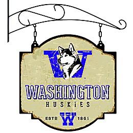 University of Washington Vintage-Inspired Metal Pub Sign in Cream