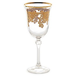 Lorren Home Trends Lorenzo Red Wine Glasses in Gold (Set of 4)