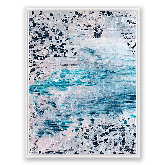Alternate image 1 for Blush and Blue 2 30-Inch x 40-Inch Abstract Framed Canvas Wall Art