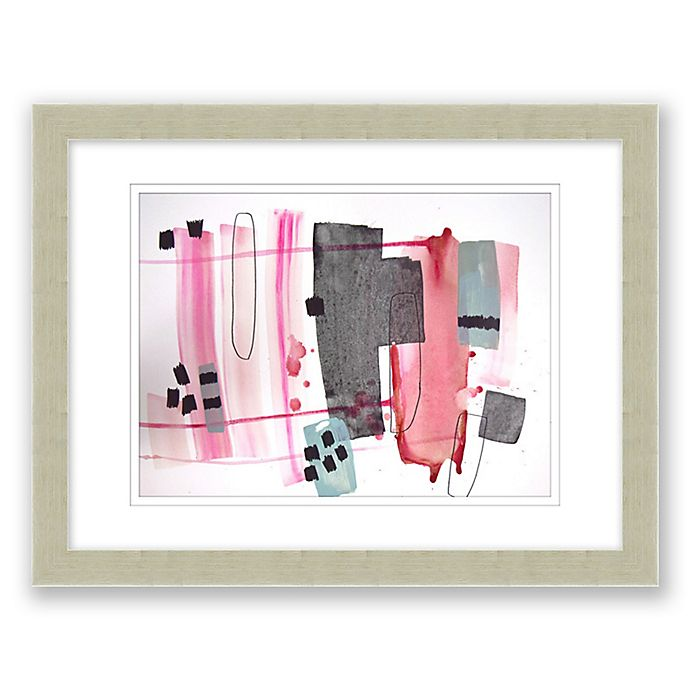 Alternate image 1 for Mid-Century Abstract 14.5-Inch x 17.5-Inch Paper Framed Print Wall Art