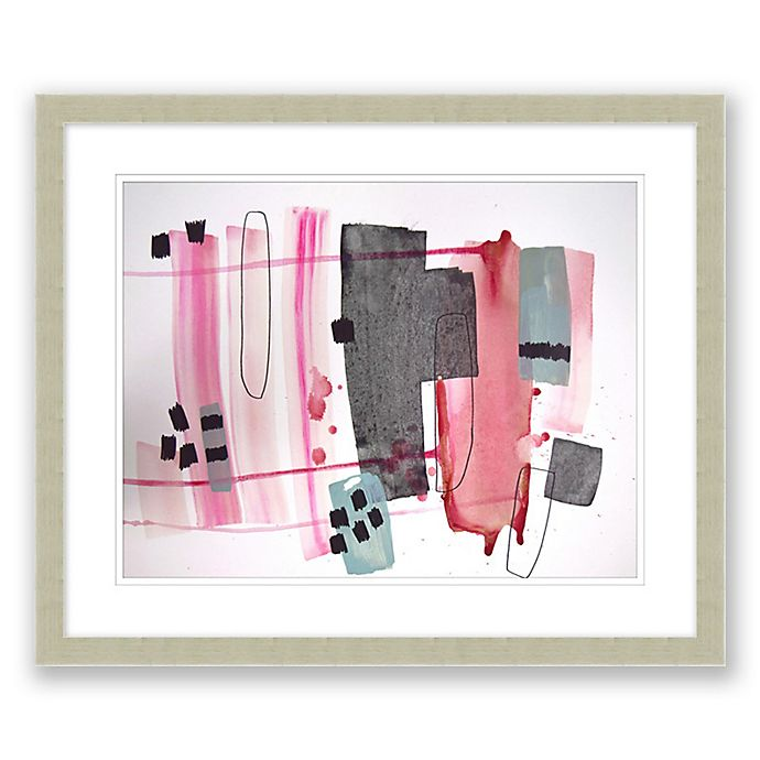 Alternate image 1 for Mid-Century Abstract 19.5-Inch x 23.5-Inch Paper Framed Print Wall Art