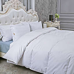Peace Nest Extra Warmth King Goose Down Comforter in White