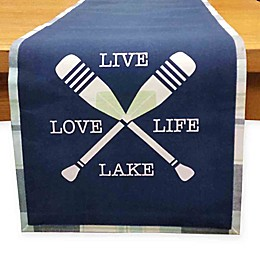 Design Imports Oars Live Love Lake Table Runner