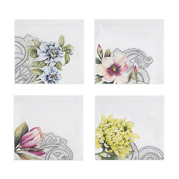 Alternate image 1 for Villeroy & Boch Quinsai Garden Cocktail Napkins (Set of 4)