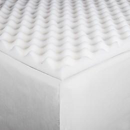 Twin/Twin XL Foam Mattress Topper in White