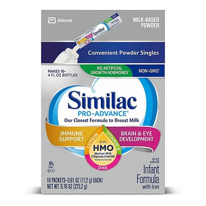 Alternate image 1 for Similac® Pro-Advance™ 16-Count Infant Formula Powder Stick Packs