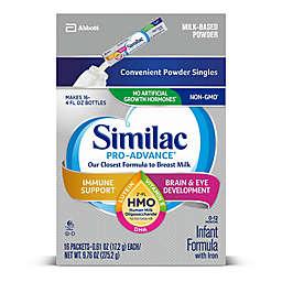 <ul><li>Similac® Pro-Advance™ 16-Count Infant Formula Powder Stick Packs</li></ul>