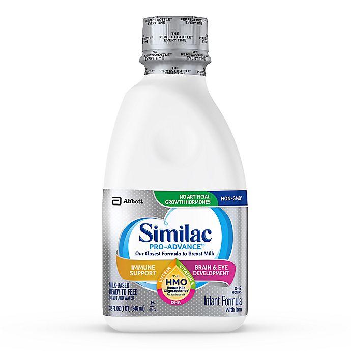 Alternate image 1 for Similac Pro-Advance Non-GMO with 2'-FL HMO Infant Formula Ready-to-Feed 32 oz. Bottle