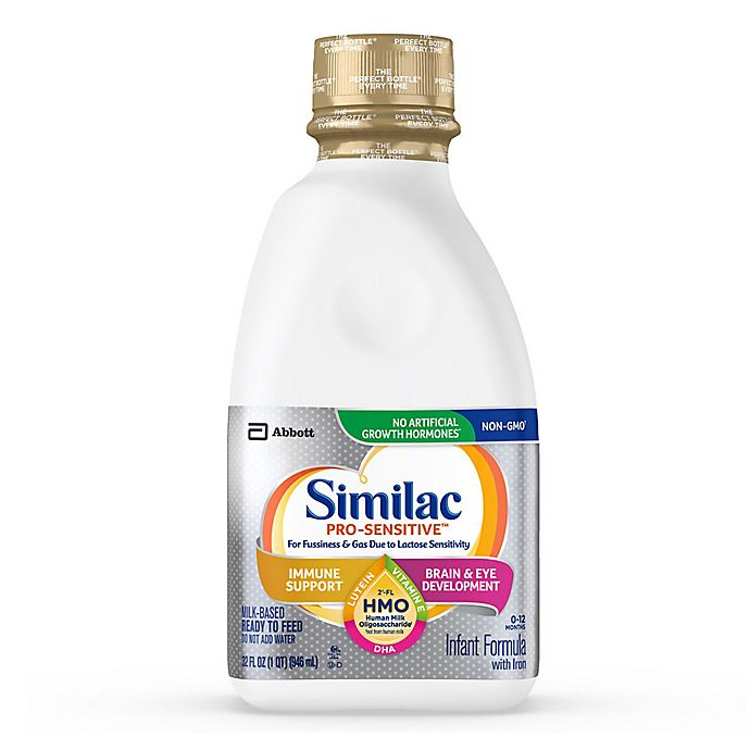 Alternate image 1 for Similac Pro-Sensitive Non-GMO with 2'-FL HMO Infant Formula Ready-to-Feed 32 oz. Bottle