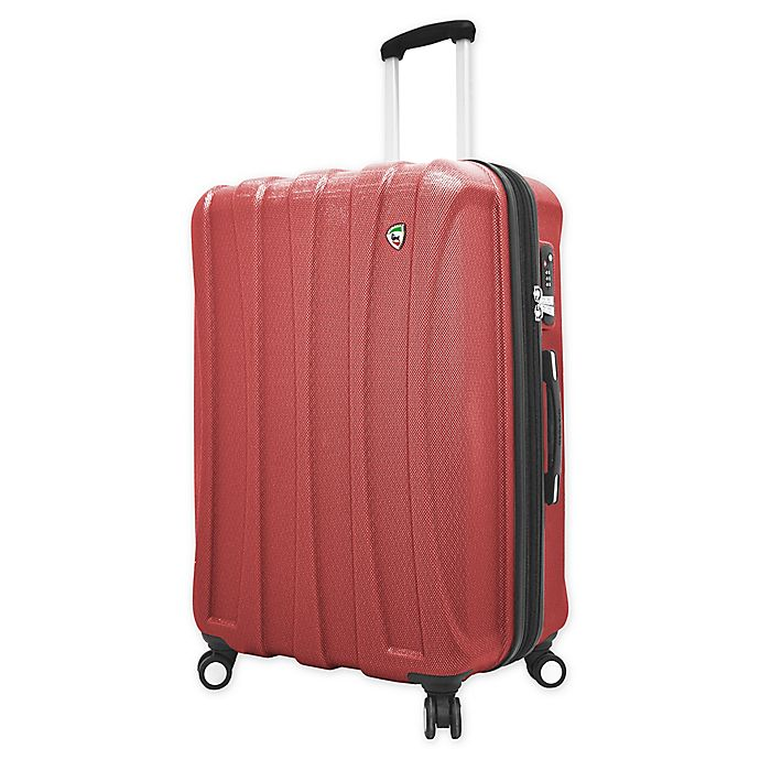 Alternate image 1 for Mia Toro ITALY Tasca Fusion 29-Inch Hardside Spinner Checked Luggage in Red